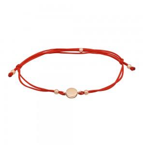 Raudono siūlo apyrankė su auksu  074B20