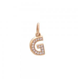 Auksinis pakabukas su cirkoniais raidė G 073P01