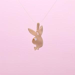 """Auksinis pakabukas """"Playboy"""" su cirkoniu 080P28"""