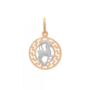 Auksinis pakabukas su baltu auksu  Ožiaragis 074P10