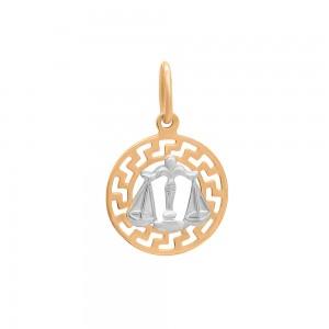 Auksinis pakabukas su baltu auksu Svarstyklės 074P09