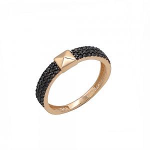 Auksinis žiedas su fianitais 074K04