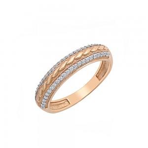 Auksinis žiedas su cirkoniu 17.5 mm