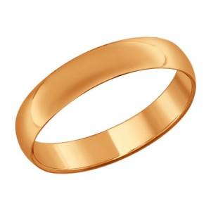 """Auksinis vestuvinis žiedas """"Comfort"""" 4mm"""