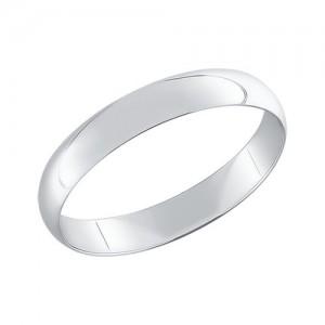 "Sidabrinis vestuvinis žiedas ""Comfort"" 4mm"