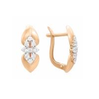 Auksiniai auskarai su fianitais 063S53