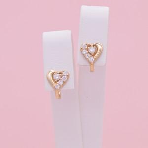 Vaikiški auksiniai auskarai su cirkoniais 074S41