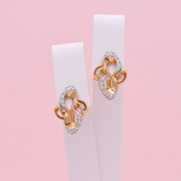 Auksiniai auskarai su cirkoniais 023S11