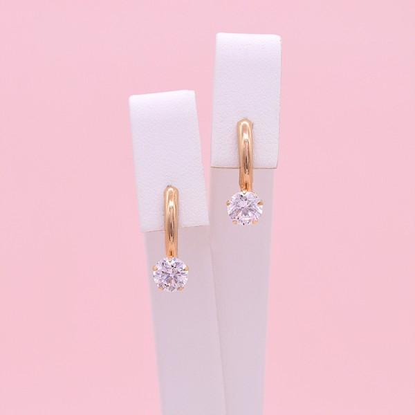 Auksiniai auskarai su baltu auksu 02S20