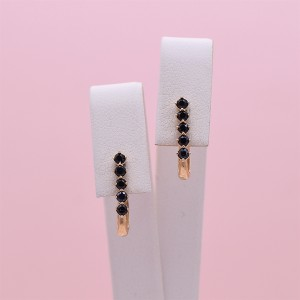 Auksiniai auskarai su fianitais 080S53