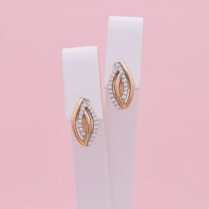 Auksiniai auskarai su cirkoniais 07S06
