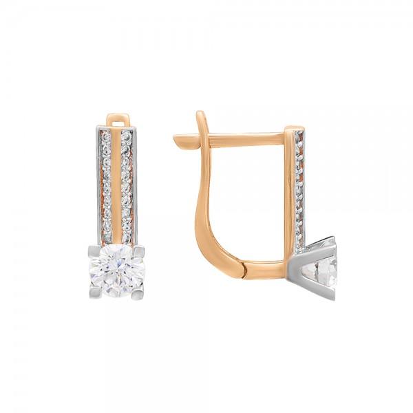 Auksiniai auskarai su cirkoniais 019S39