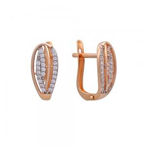 Auksiniai auskarai su cirkoniais 012S09