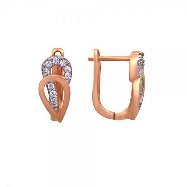 Auksiniai auskarai su cirkoniais