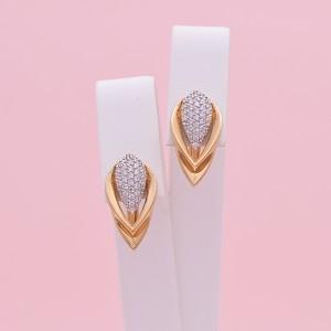 Auksiniai auskarai su cirkoniais 024S48
