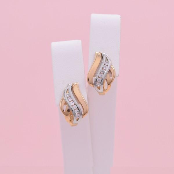Auksiniai auskarai su cirkoniais 012S07