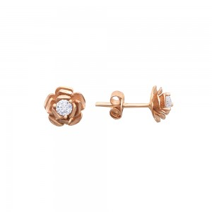 Auksiniai auskarai su fianitu 059S57