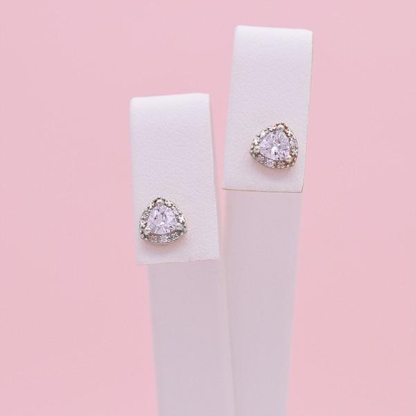 Auksiniai auskarai su fianitais 059S56