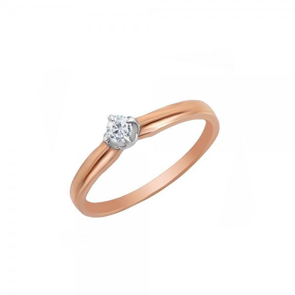 Auksinis žiedas su briliantu 18 mm