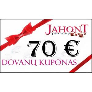 Dovanų kuponas 70 EUR