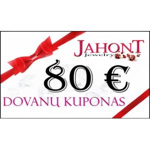 Dovanų kuponas 80 EUR