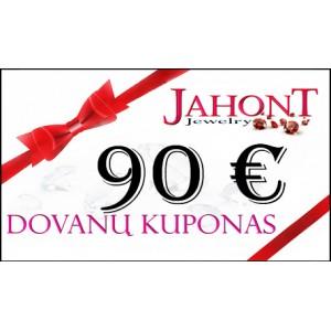 Dovanų kuponas 90 EUR