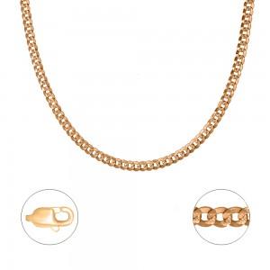 """Pilnavidurė auksinė grandinėlė  """"Curb"""" 55 cm 074C39"""