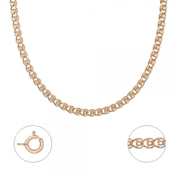 """Auksinė grandinėlė su baltu auksu """"Love"""" 50 cm 070C33"""