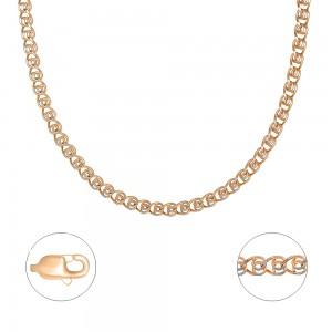 """Auksinė grandinėlė su baltu auksu """"Love"""" 50 cm 053C37"""