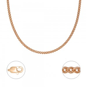 """Pilnavidurė auksinė  grandinėlė  """"Nonna"""" 55cm 074C38"""