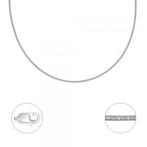 "Blizganti sidabrinė grandinėlė ""Kolje"" 50cm"