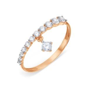 Auksinis žiedas su fianitais 070K19