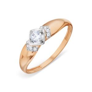 Auksinis žiedas su fianitais 20.75 mm