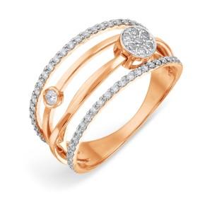 Auksinis žiedas su fianitais 070K06