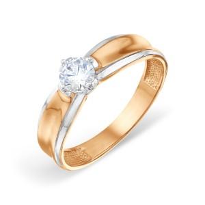 Auksinis žiedas su fianitais 20 mm