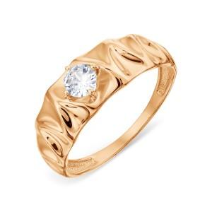 Auksinis žiedas su fianitu 20 mm