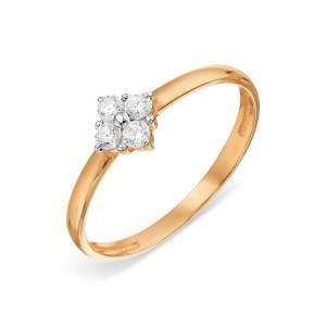 Auksinis žiedas su fianitais 070K22