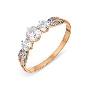 Auksinis žiedas su Swarovski Zirconia 070K18