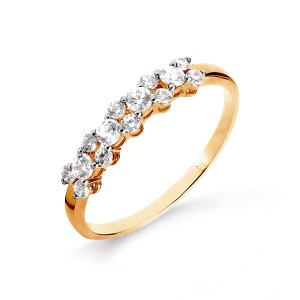 Auksinis žiedas su Swarovski Zirconia 070K15