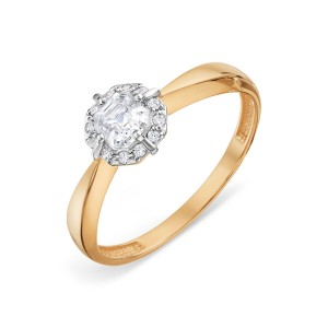 Auksinis žiedas su Swarovski Zirconia