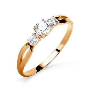 Auksinis žiedas su fianitais 070K17