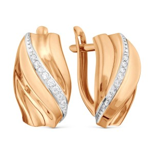 Auksiniai auskarai su fianitais 080S75
