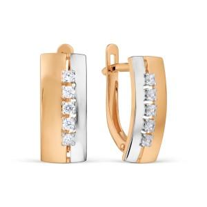 Auksiniai auskarai su fianitais 080S70