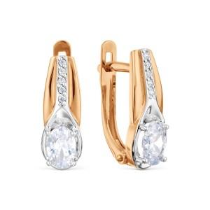 Auksiniai auskarai su fianitais 080S08