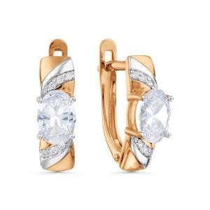 Auksiniai auskarai su fianitais 080S71