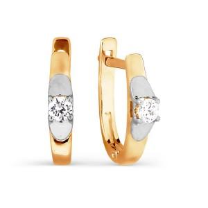 Auksiniai auskarai su fianitu 080S06
