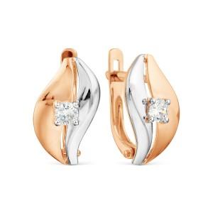 Auksiniai auskarai su fianitu 080S72