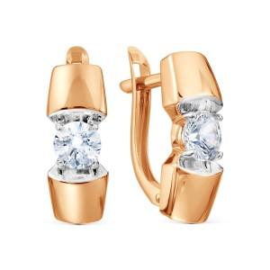 Auksiniai auskarai su fianitais 080S74