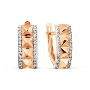 Auksiniai auskarai su fianitais 080S09