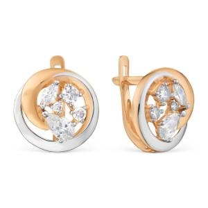 Auksiniai auskarai su fianitais 074S15